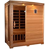 Cheap GOLDEN DESIGNS AMZ-GDI-3306-01 Frankfurt 3-Person Far Infrared Sauna