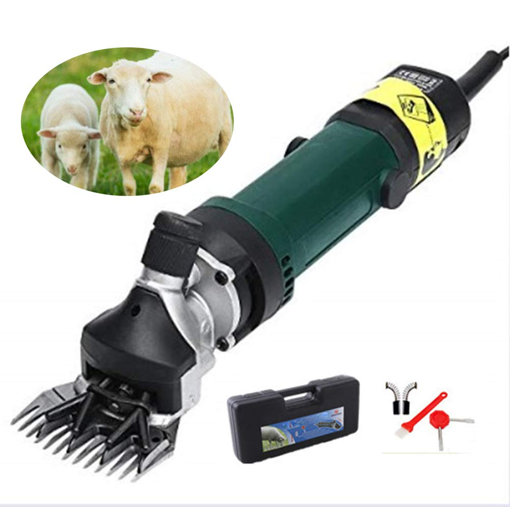 Yellow Electric Sheep Shears 500W 6 Speed, Portable Sheep Clipper for Sheep Goat Llama Horse and Other Fur LivestockHeavy Duty Shearing Work.220V 240V,Yellow