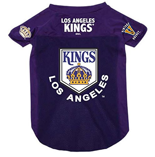 Los Angeles Kings Pet Dog Mesh Hockey Jersey Vintage Throwback Style Purple XL