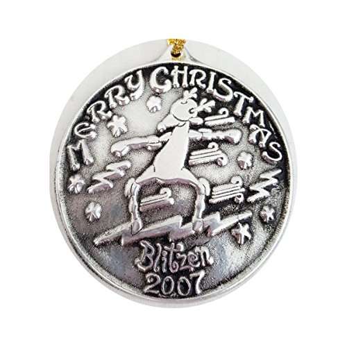 Wilton Ornaments Armetale (Wilton Armetale Merry Christmas Blitzen 2007 Pewter Ornament)