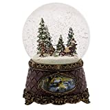 Sleigh Scene Musical Christmas Table Top Glitterdome Plays Tune Jingle Bells