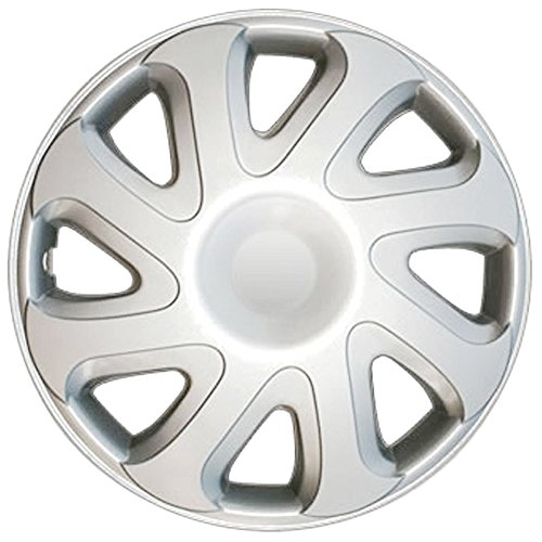 Set of 4 Wheel Covers 14in Hub Caps Silver Rim Cover - Car Accessories for 14 inch Wheels - Snap On Hubcap, Auto Tire Replacement Exterior Cap 14 inch Hubcaps Best for 2006-2011 Chevrolet Aveo