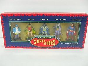 DC Comics Super Heroes Die Cast Figurines - 5 Figure Gift Set by X-14