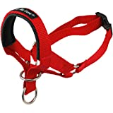 "Dog Head Collar Halter Red 6 Sizes (L: 10.25""-12.25"" Snout)"