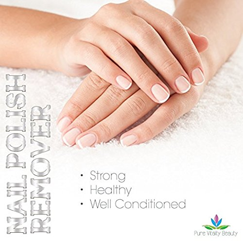 Nail Polish Remover - Natural and Plant Based - Non Acetone - Conditioner and Strengthener for Nails and Cuticles - Safe for Kids - no Chemicals and Non Toxic by Pure Vitality Beauty (Image #1)