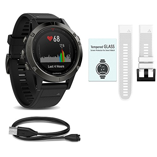 Garmin Fenix 5 Value Bundle – The All-In-One & All-Style Ultimate Bundle you can't do without – Choose Your Favorite Garmin Watch – Sapphire/Silver/Slate Gray & more. For Sale