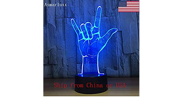 I Love Sign Charging Night Light 3D LED Lámpara de mesa niños ...