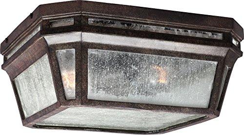 Feiss OL11313WCT Londontowne Marine Grade Outdoor Flush Mount Ceiling Lighting, Bronze, 2-Light (12