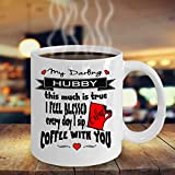 LIZNICE - Hubby Mug - Christian Husband | Gift Idea Mr & Mrs Coffee Mugs for Him MUG 15oz
