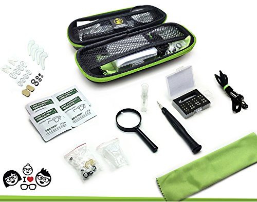 Complete Eyeglass Repair & Cleaning Kit. Premium, convenient 80 piece travel tools for reading glasses & - Clean Frames Glasses