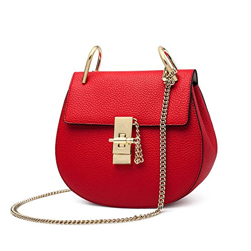 Fashion Lady Bag Casual Shoulder Bag Messenger Bag Vintage Red