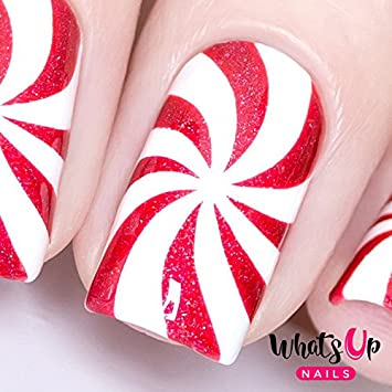 Amazon Whats Up Nails Peppermint Candy Stencils Stickers