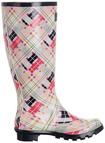 Tartan Pink Boots Wellington Lunar Womens 5FwT8qPnax