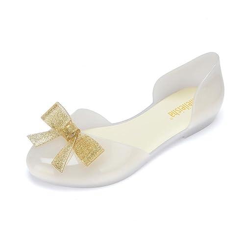 UFACE Butterfly Wasser Wafer Kopf Sandalen Freizeitschuhe Mode Frauen Bogen Runde Kappe Kristall Schuhe