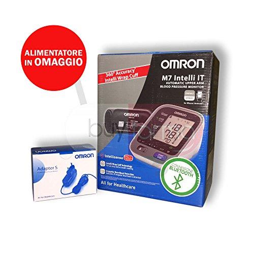 Omron M7 Intelli it - Medidor de presión digital de brazo con sistema Bluetooth + Fuente de alimentación de corriente (): Amazon.es: Salud y cuidado ...