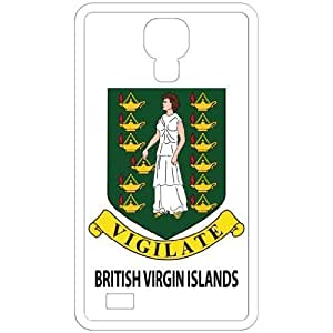 British Virgin Islands - Country Coat Of Arms Flag Emblem White For Case Samsung Galaxy S5 Cover Cell Phone