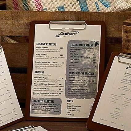 De madera para menú portapapeles A4 - soporte para cartas de ...