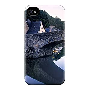 Unique Design Iphone 4/4s Durable Case Cover France Houses Style