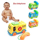 Falaiduo 2018 Baby Toys Music Cartoon Bus Phone Educational Kids Toy Gift (colorful)