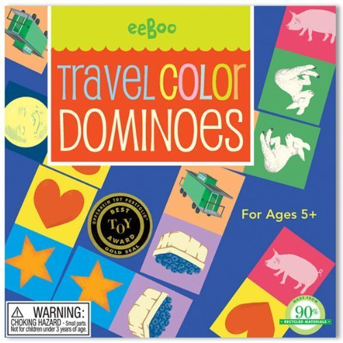 EeBoo Colore Dominoes Travel Gam by eeBoo