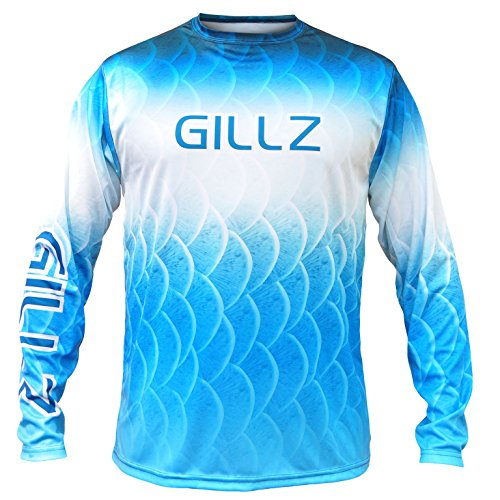 Gillz Mens Extreme Scales Long Sleeve Shirt, Blue, x Large