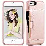 iphone 6 covers card holders - iphone 6 Wallet Case ,iphone 6 case with card holder , ZVE iphone 6s case Slim with wallet Credit Card Holder Shockproof Protective hybrid Leather Case For Apple iPhone 6 / 6s 4.7 inch (Rose Gold)