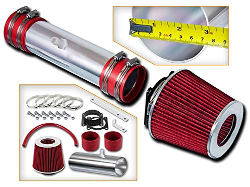 Rtunes Racing Short Ram Air Intake Kit + Filter Combo RED For 02-06 Nissan Altima / 03-06 Nissan Murano V6