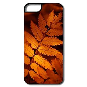 Case For Samsung Galaxy S5 Cover, Brown Autumn Leaf White/black Cases Case For Samsung Galaxy S5 Cover