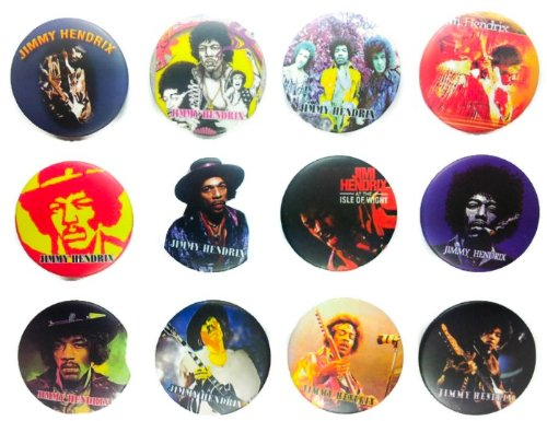 (Jimi Hendrix (1) Awesome Quality Lot 12 New Pins Pinback Buttons Badge 1.25 Inch)