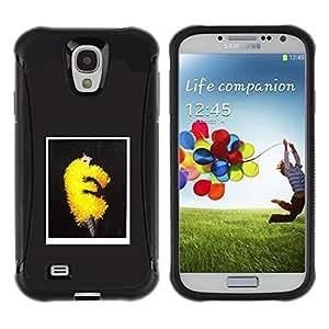 Suave TPU GEL Carcasa Funda Silicona Blando Estuche Caso de protección (para) Samsung Galaxy S4 IV I9500 / CECELL Phone case / / Fashion Art Yellow Puffy Fluffy Dress Trend /