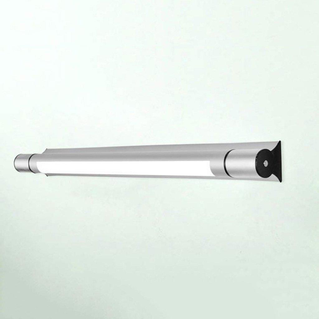 badezimmerlampe Spiegel Front Ligh Einfache und moderne LED Badezimmer Licht Wandleuchte Badezimmer Beleuchtung Make-up Lampen Silber (Größe   9W 64cm)