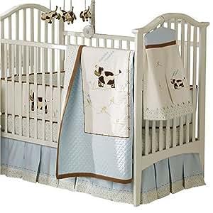 Amazon Com Sumersault Moo Cow Crib Set 4 Piece
