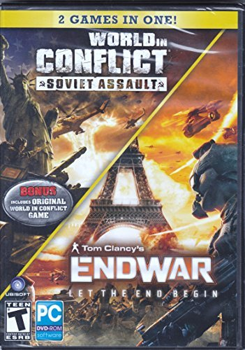 Assault Pc Dvd - World in Conflict : Soviet Assault and Tom Clancys Endwar - Let the End Begin - Game DVD (2 Games in One)