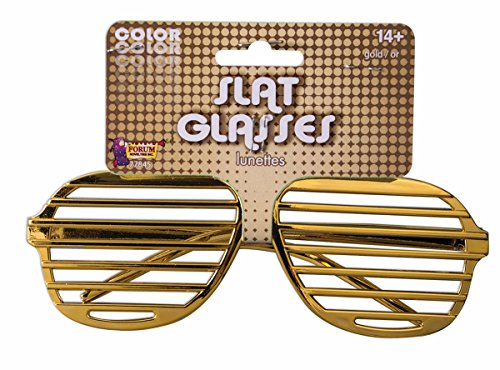 Gangster Rapper Costume (Men's Slotted Glasses Costume Accessory in Gold)