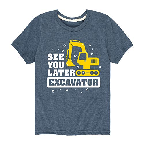 Country Casuals See You Later Excavator - Toddler Short Sleeve Tee Heather Blue