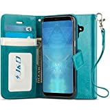 J&D Galaxy A8 2019 Case, [Wallet Stand] [Slim Fit] Heavy Duty Protective Shock Resistant Flip Cover Wallet Case for Samsung Galaxy A8 (Release in 2019) - [Not for Galaxy A8 Plus / A8+ 2019]