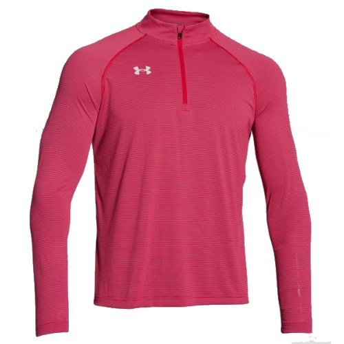 Under Armour Men's Stripe Tech 1/4 Zip Pullover, Red, X-Large