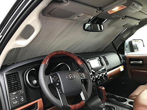 (HeatShield The Original Auto Sunshade, Custom-Fit for Toyota Sequoia SUV 2018, 2019, Silver Series)