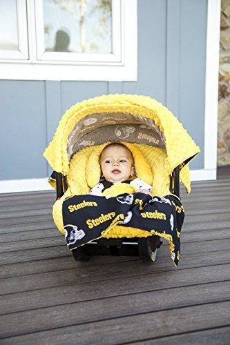 NFL Pittsburg Steelers The Whole Caboodle 5PC set - Baby Car Seat Canopy with matching accessories by Mother's Lounge