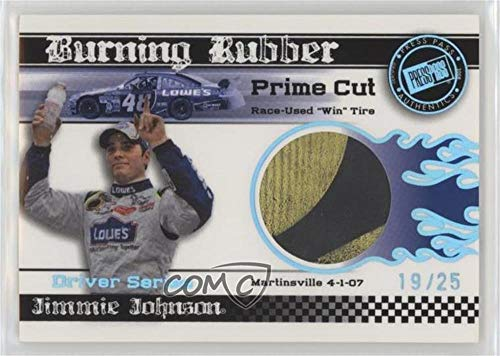 (Jimmie Johnson #19/25 (Trading Card) 2009 Press Pass Eclipse - Burning Rubber Race-Used Tire Driver Series - Prime Cut)