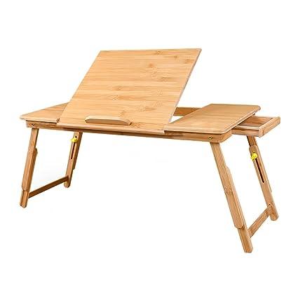 Tavolo pieghevole LXF Portatile in bambù Multifunzione, Salvaspazio ...