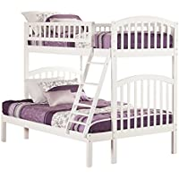 Richland Bunk Bed, Twin Over Full, White