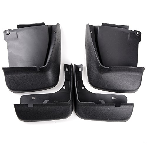 Astra Depot 4pcs Mud Flaps Splash Guard Mudguard For 2003-2007 Honda Accord Sedan - BLACK