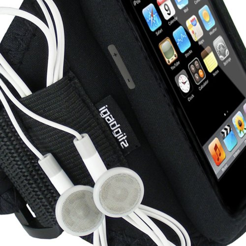 iGadgitz Water Resistant Neoprene Sports Gym Jogging Armband for iPod Touch 1st, 2nd, 3rd & New 4th Generation 8gb, 16gb, 32gb & 64gb