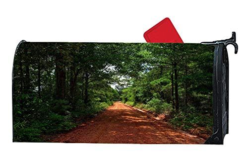 Alabama Dirt Road Red Clay Decorative Magnetic Mailbox Cover Personalized Vinyl Mailbox Wrap with US Standard Size 6.5