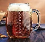 Football Mug Giant XL Clear Glass Jumbo Shaped 37oz Tailgate Superbowl Beer Mug