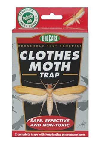 BioCare Non-Toxic Clothes Moth Trap - 2 Complete Traps (Moths Spray)