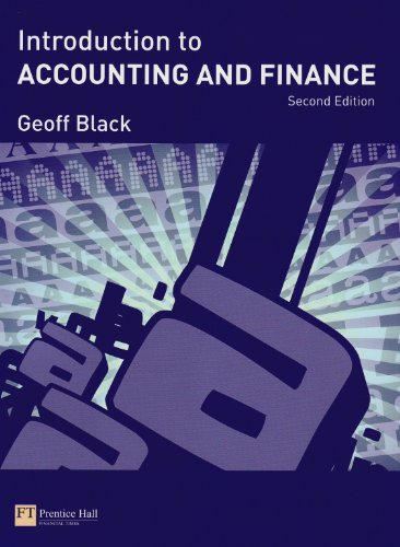 Introduction to Accounting & Finance Pk, by Geoff Black