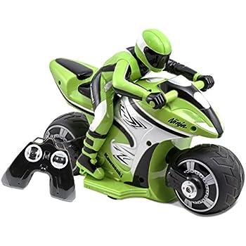 Kid Galaxy RC Kawasaki Ninja Bike, Green/Black
