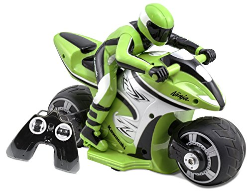 Kid Galaxy RC Kawasaki Ninja Bike, Green/Black